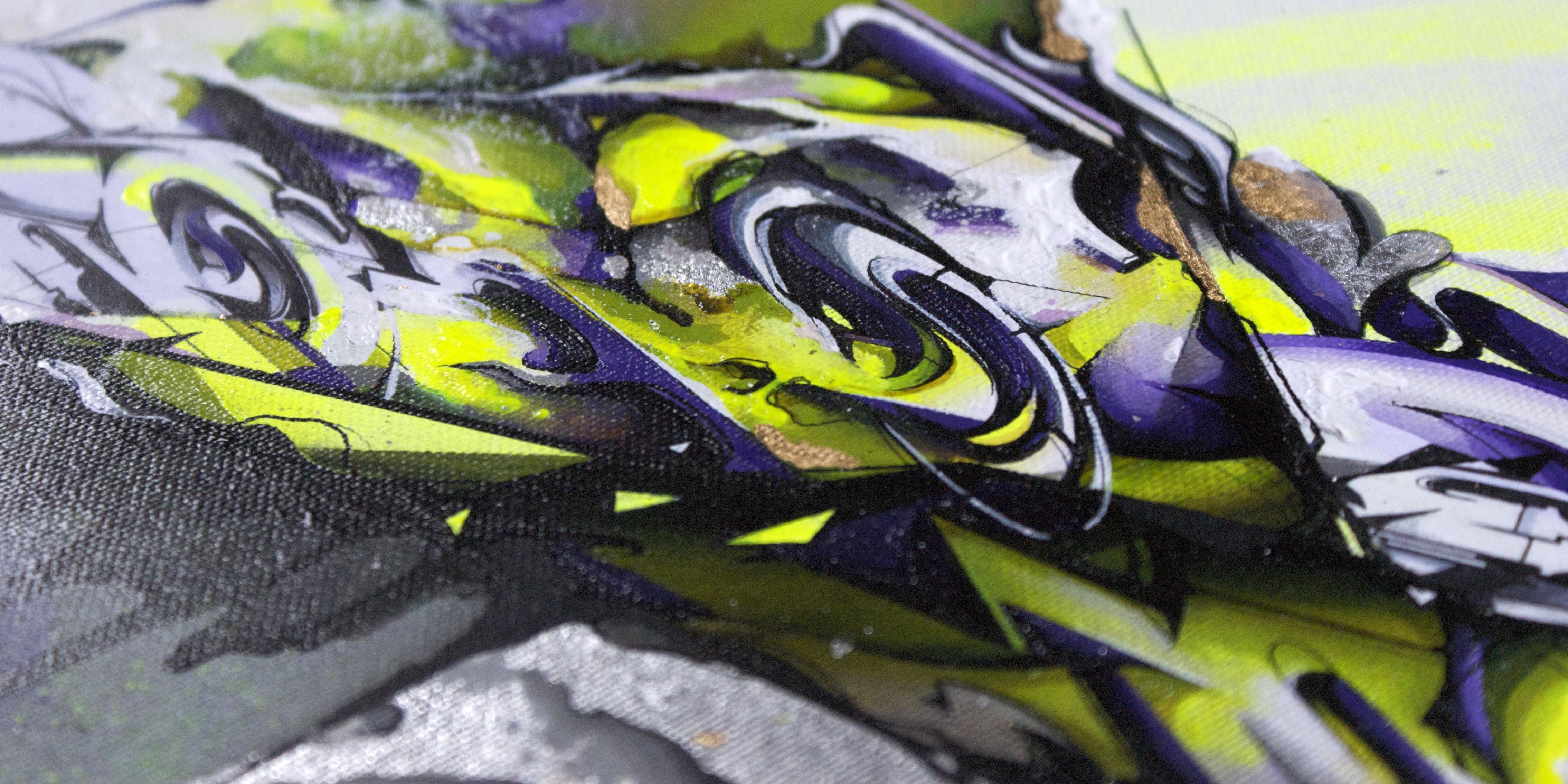 A work by Does - Forcefield canvas detail 1