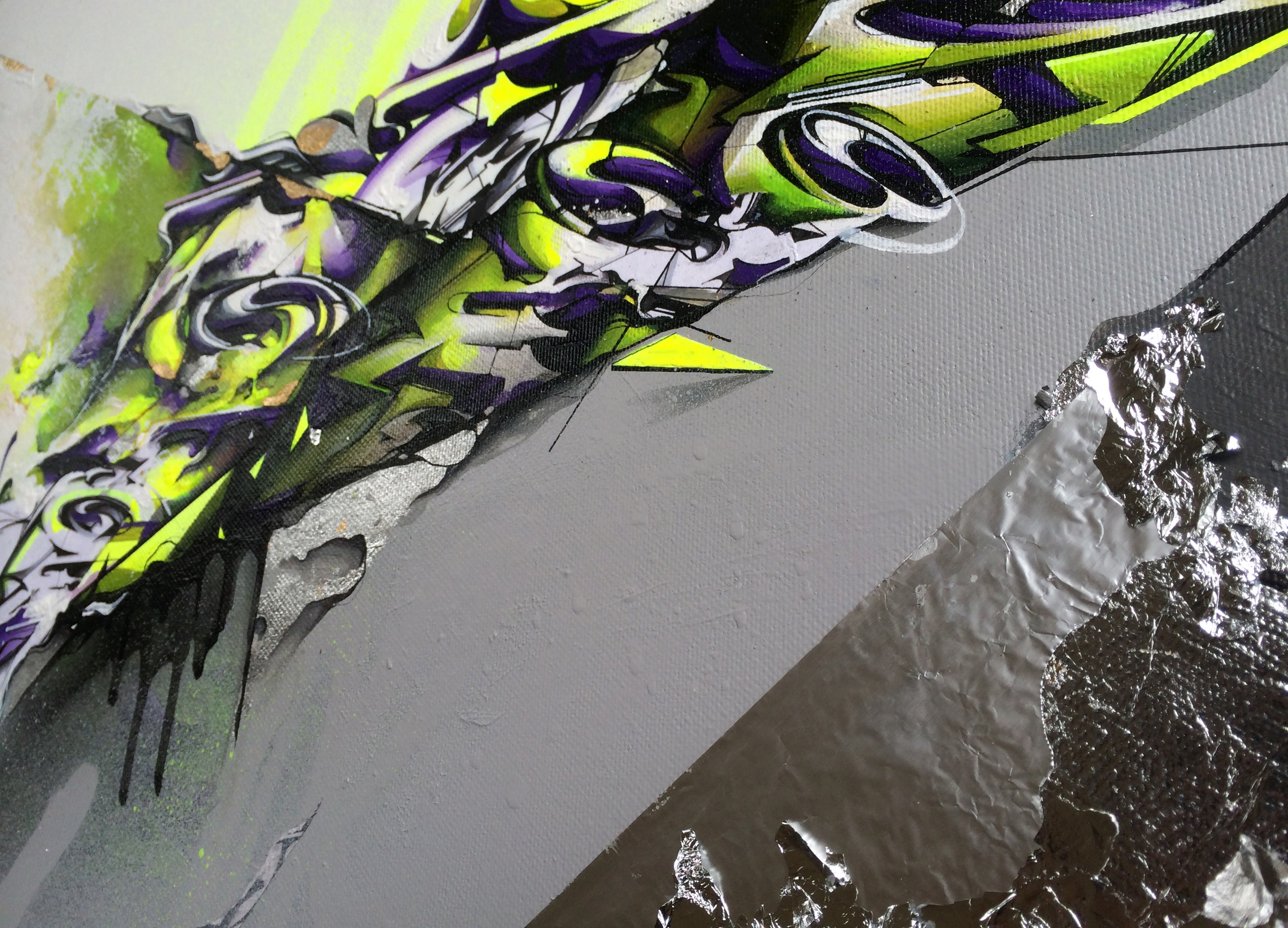 A work by Does - Forcefield canvas detail 3