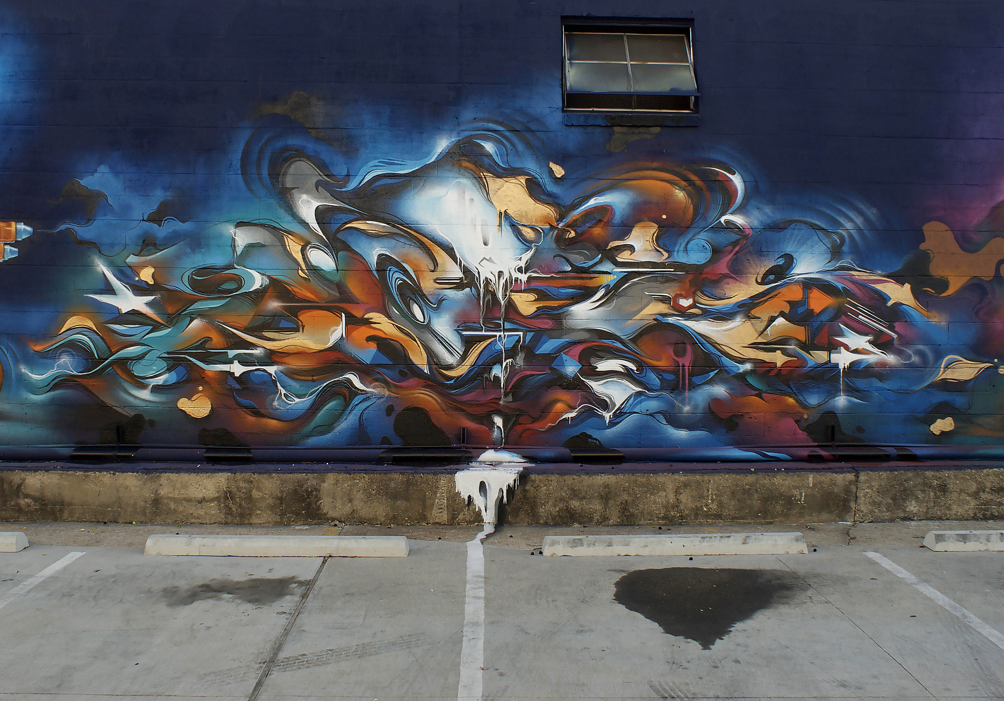 A work by Does - Baton rouge usa mural