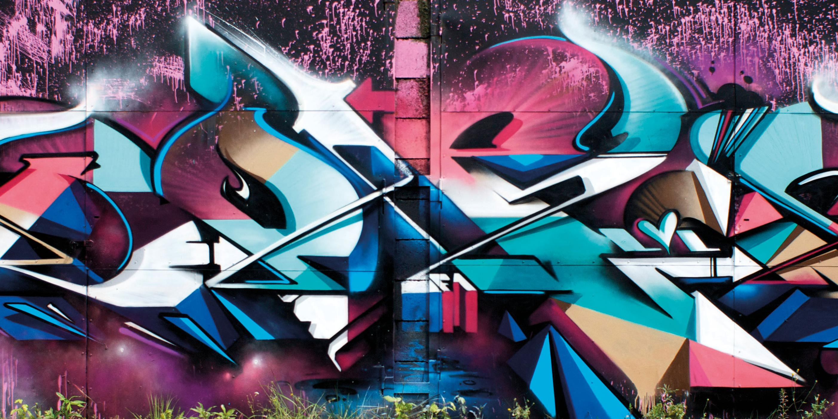 A work by Does - Miskolc hungary detail mural