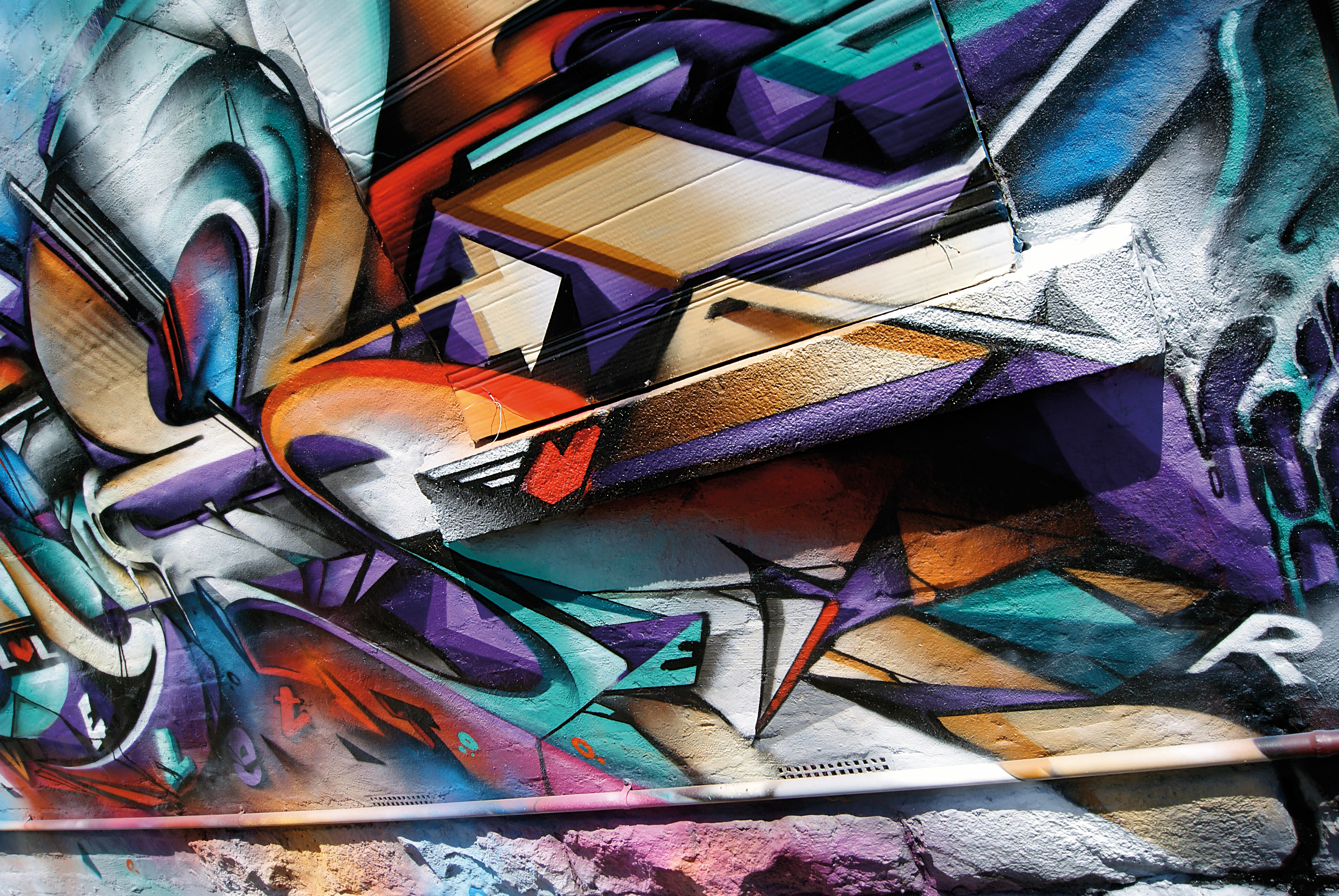 A work by Does - Melbourne australia mural detail