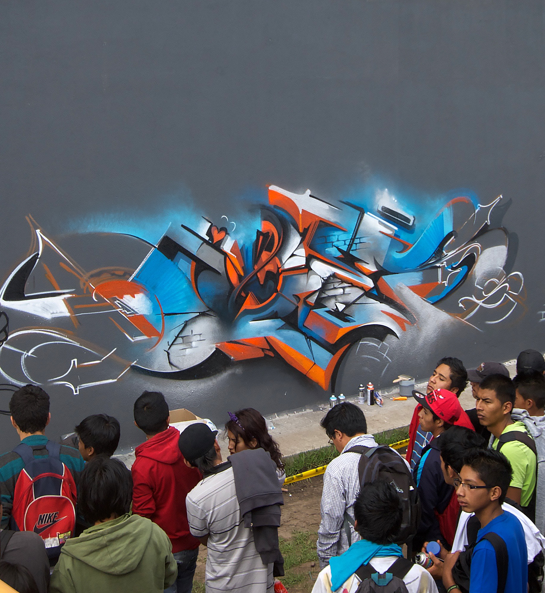 A work by Does - Quito equador crowd work in progress