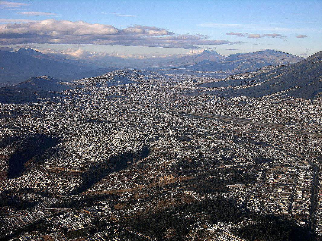 A work by Does - Quito skyline