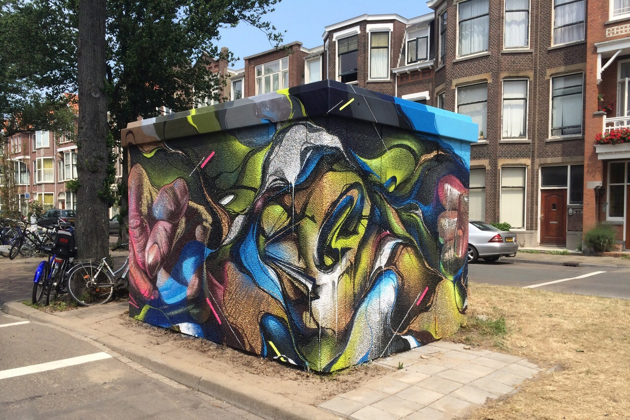 A work by Does - The hague the netherlands mural ieplaan case 1