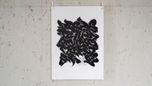 Print alphabet black