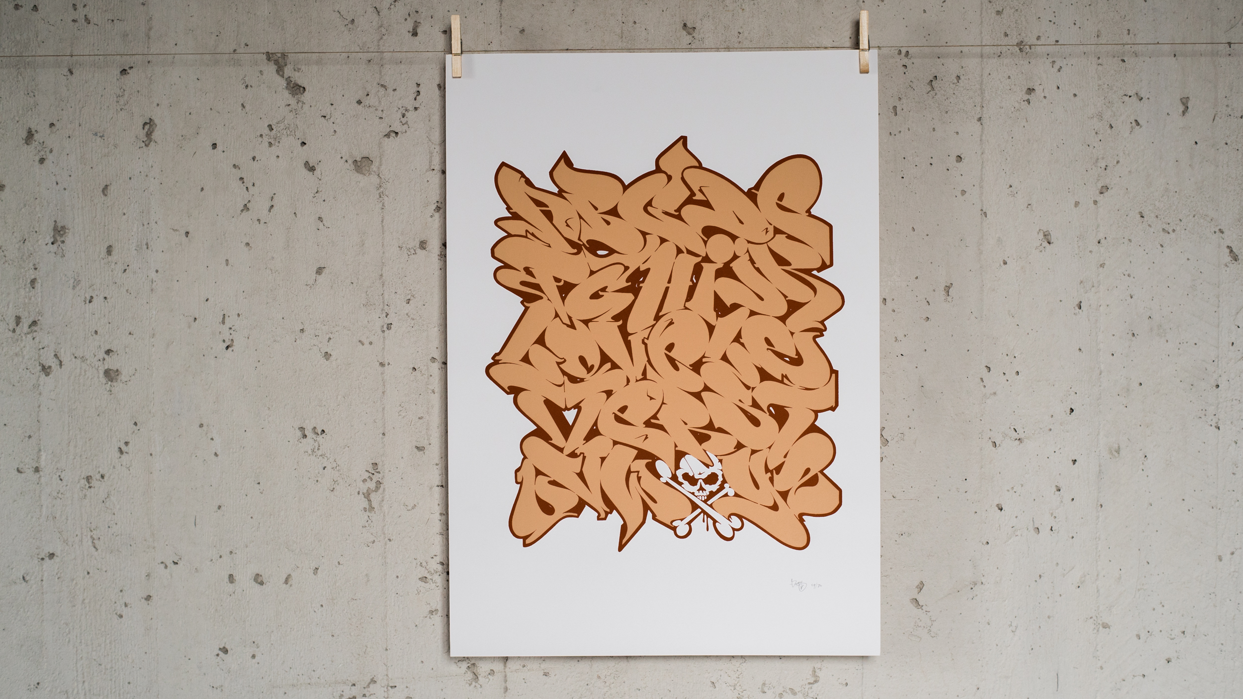 A work by Does - Print loveletters alphabet