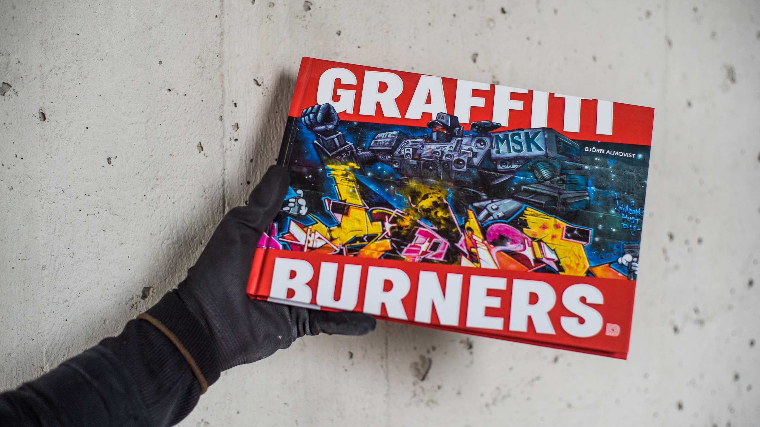 A work by Does - Book graffiti burners cover