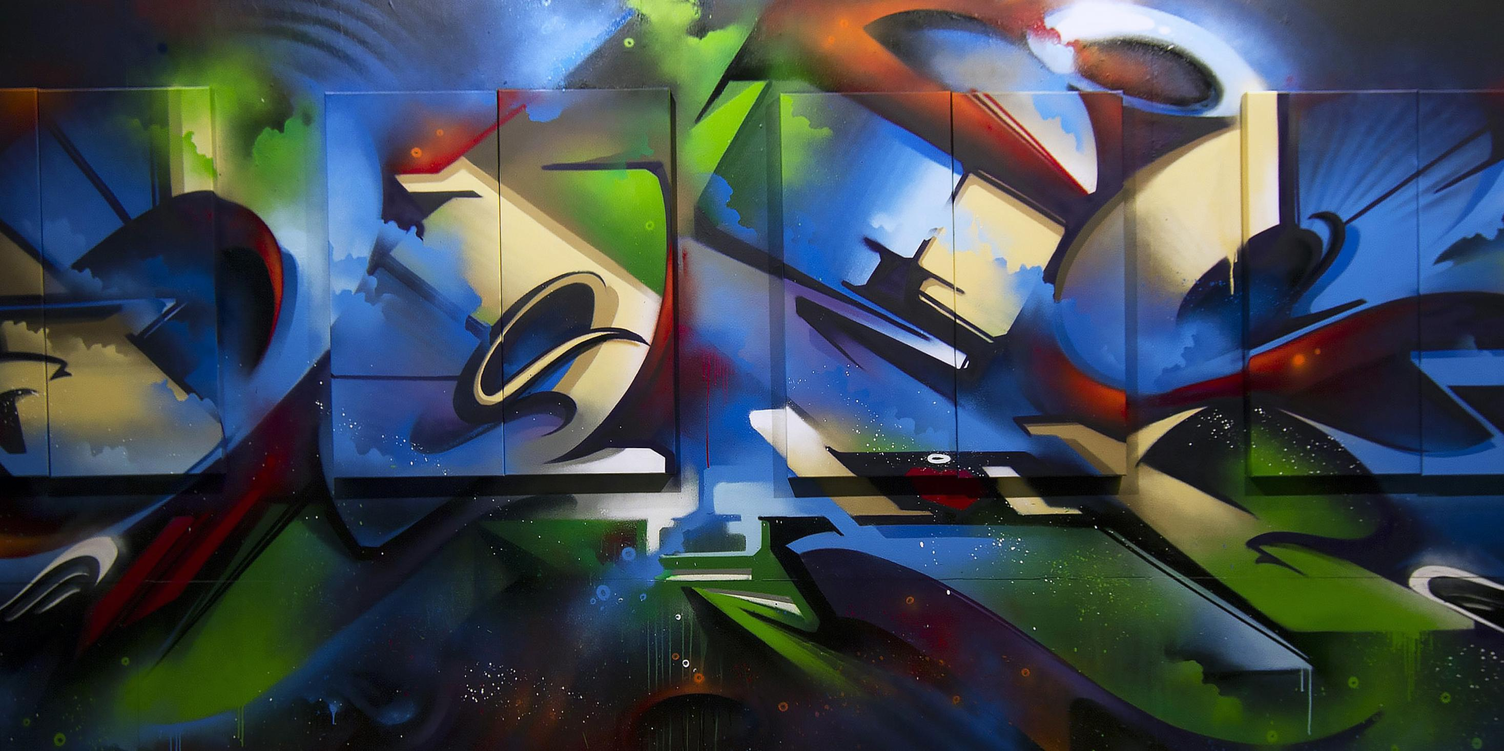 A work by Does - Sydney australia detail canvas endless perspectives