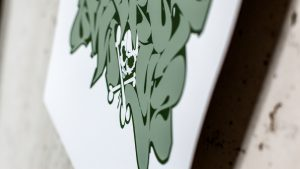 Alphabet green print detail 2