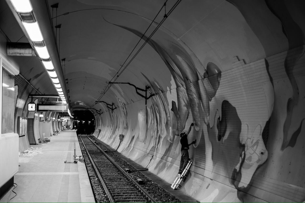 A work by Does - Ostendstrasse frankfurt germany tunnel project rudi 5