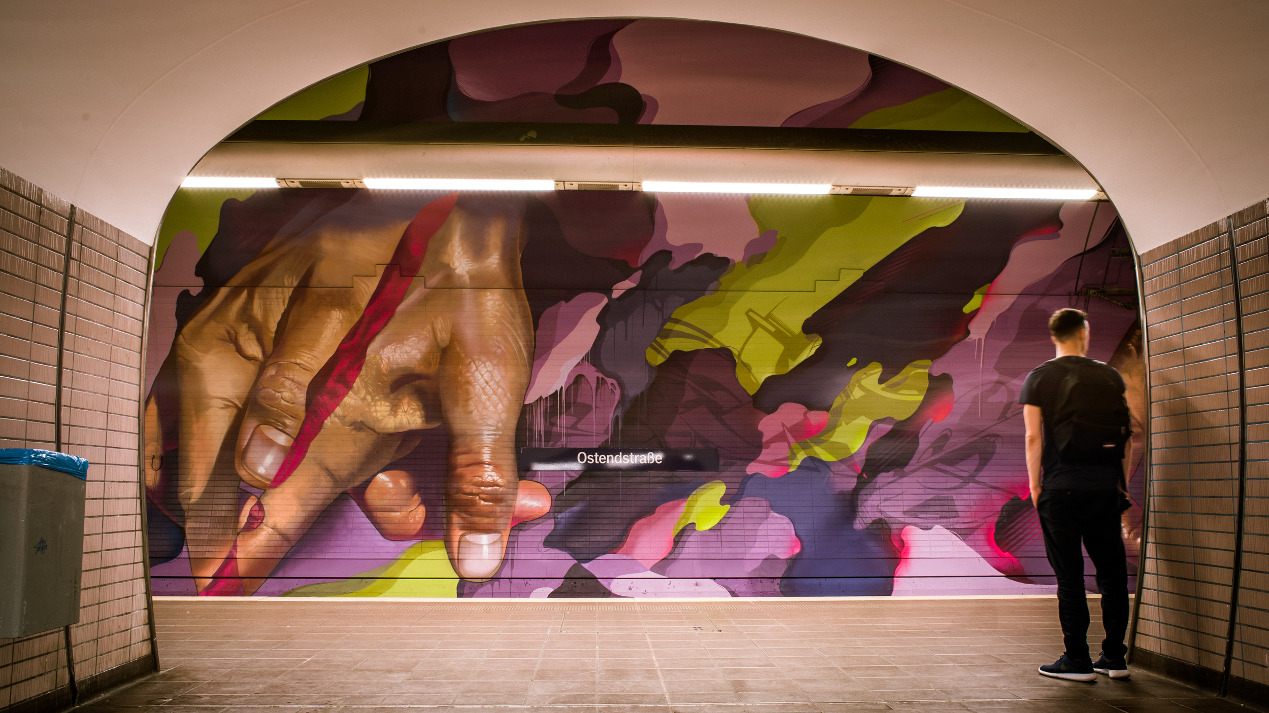 A work by Does - Ostendstrasse frankfurt germany tunnel 34