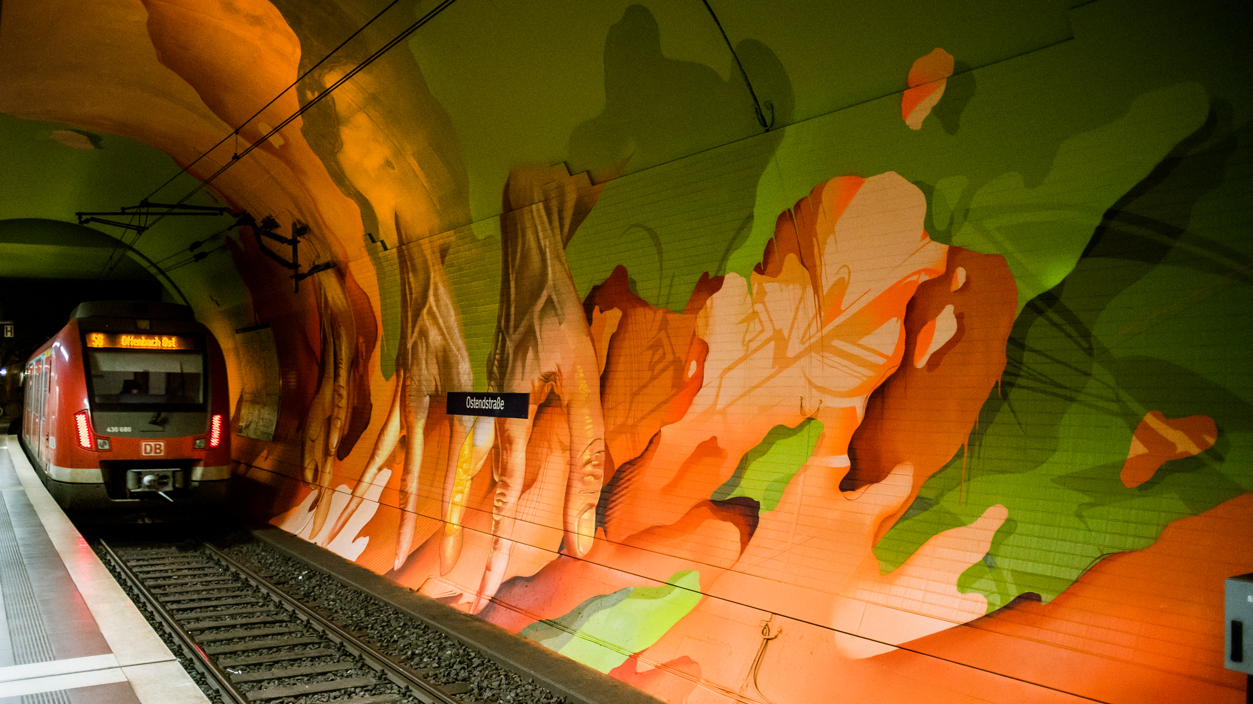 A work by Does - Ostendstrasse frankfurt germany tunnel 29