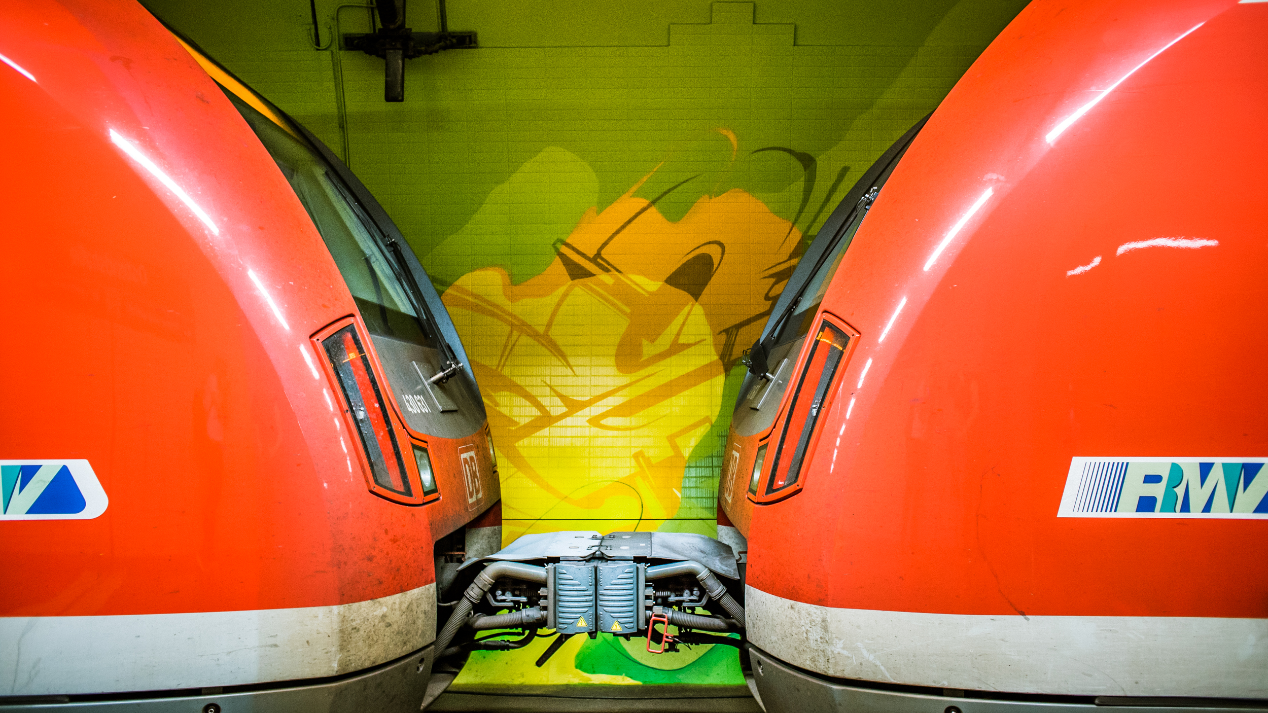 A work by Does - Ostendstrasse frankfurt germany tunnel 26