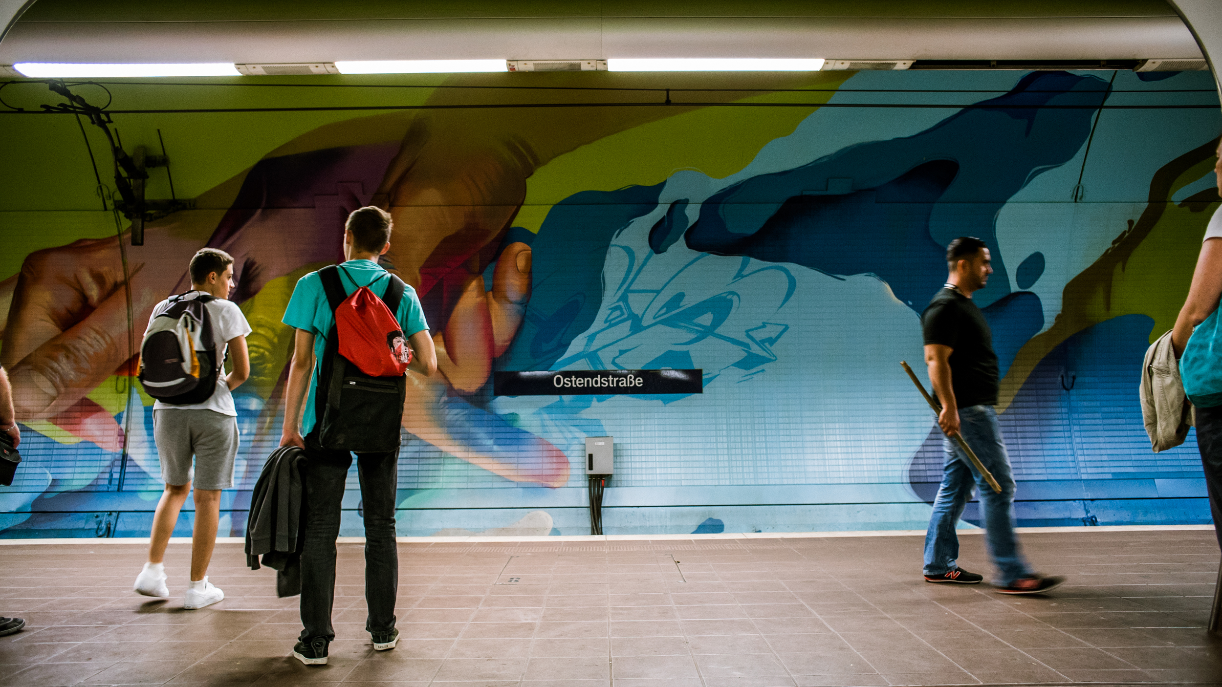 A work by Does - Ostendstrasse frankfurt germany tunnel 25