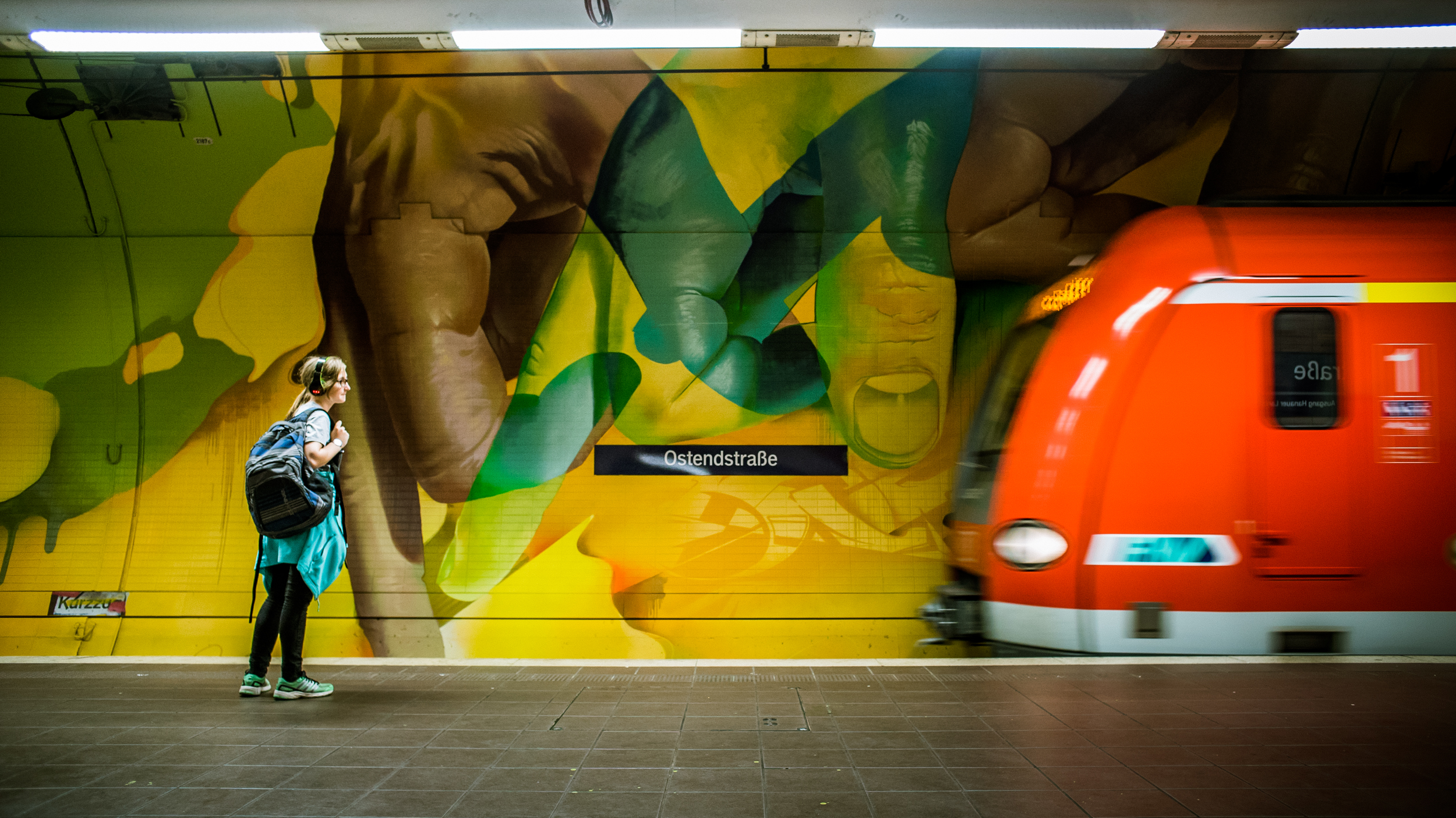 A work by Does - Ostendstrasse frankfurt germany tunnel 24