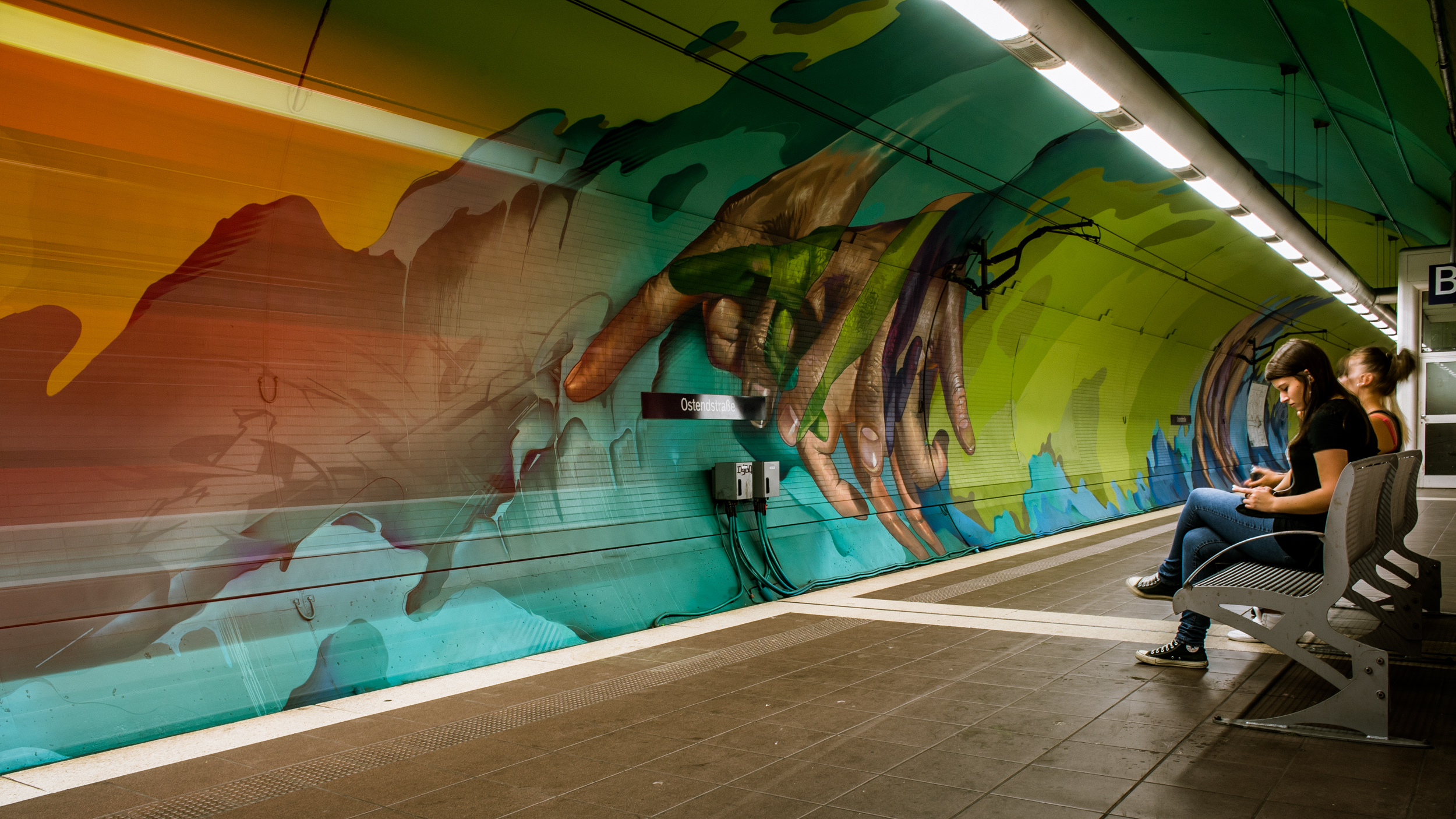 A work by Does - Ostendstrasse frankfurt germany tunnel 22