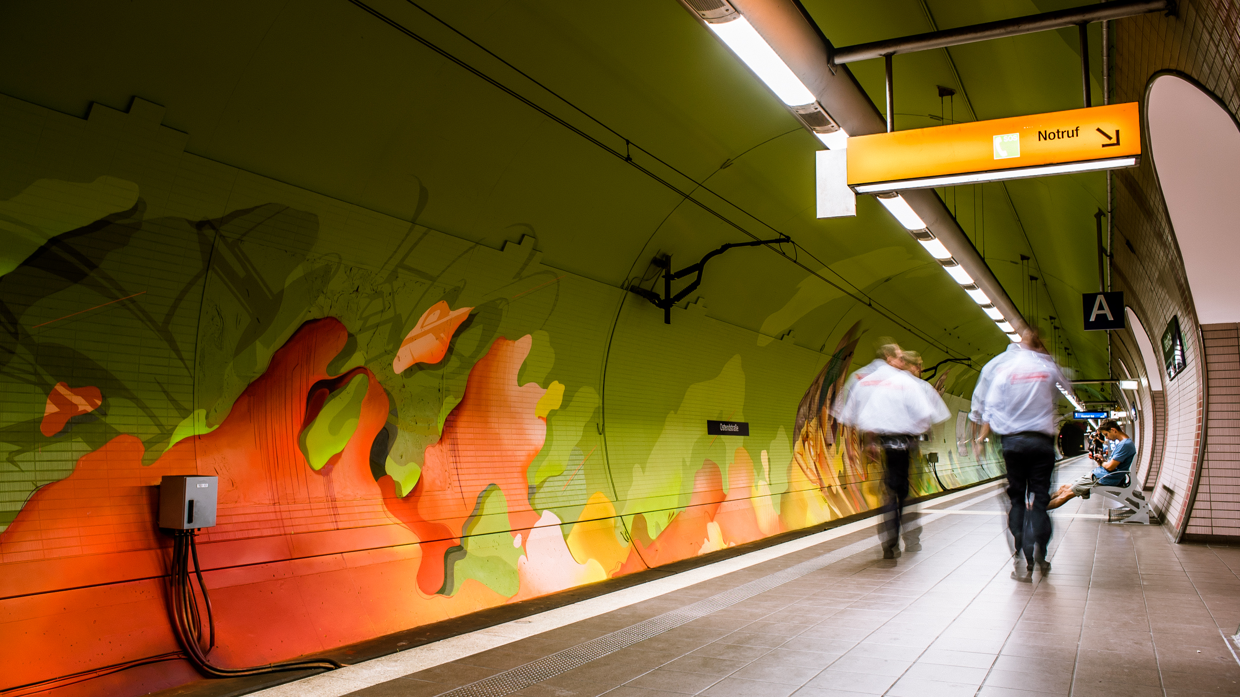 A work by Does - Ostendstrasse frankfurt germany tunnel 32