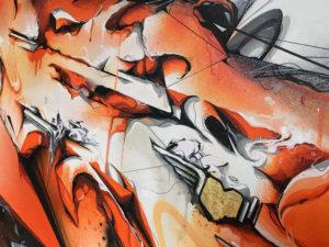 Detail canvas dieci 3