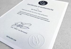 Certificate qui facit creat print 1