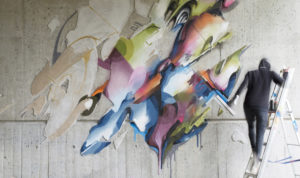 Mural lente detail heerlen the netherlands carbon 13