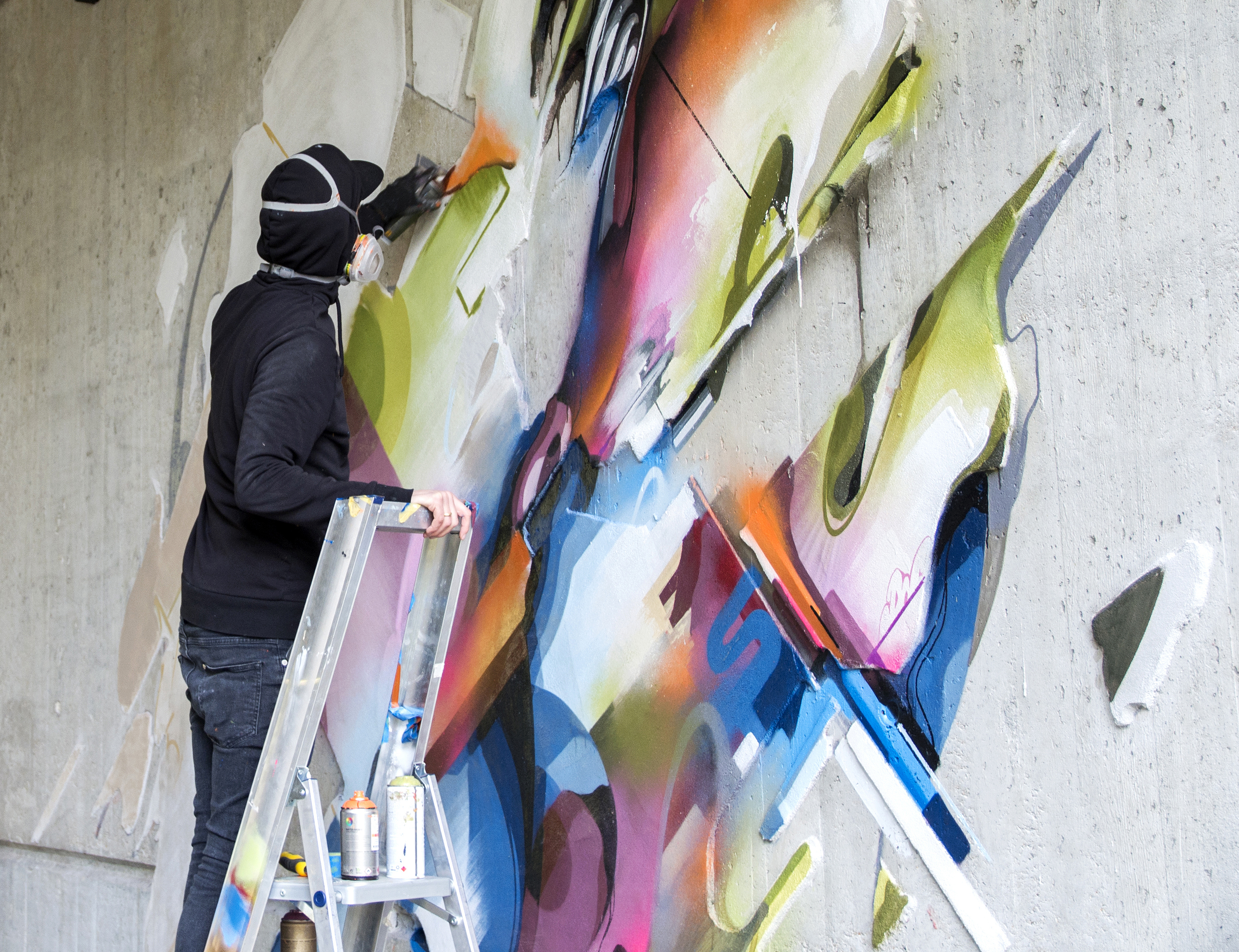 A work by Does - Mural lente detail heerlen the netherlands carbon 15