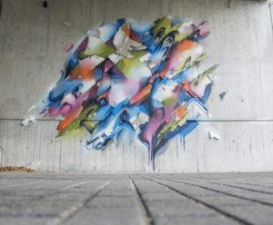 Mural lente detail heerlen the netherlands carbon 14