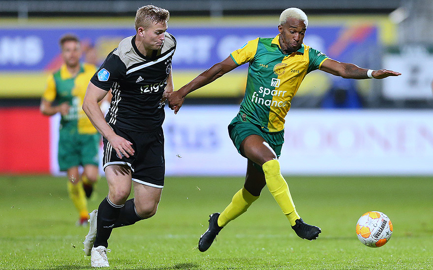 A work by Does - Netherlands: Fortuna Sittard vs Ajax, football,