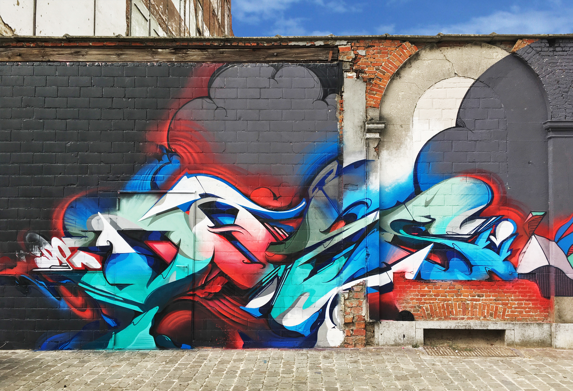 A work by Does - Antwerp,-Belgium-2018mc4