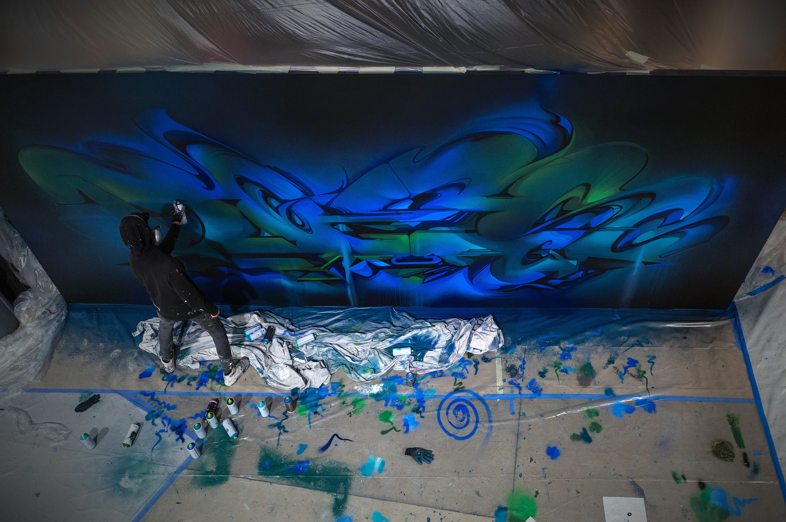 A work by Does - Mural Oasis - Stage Two
