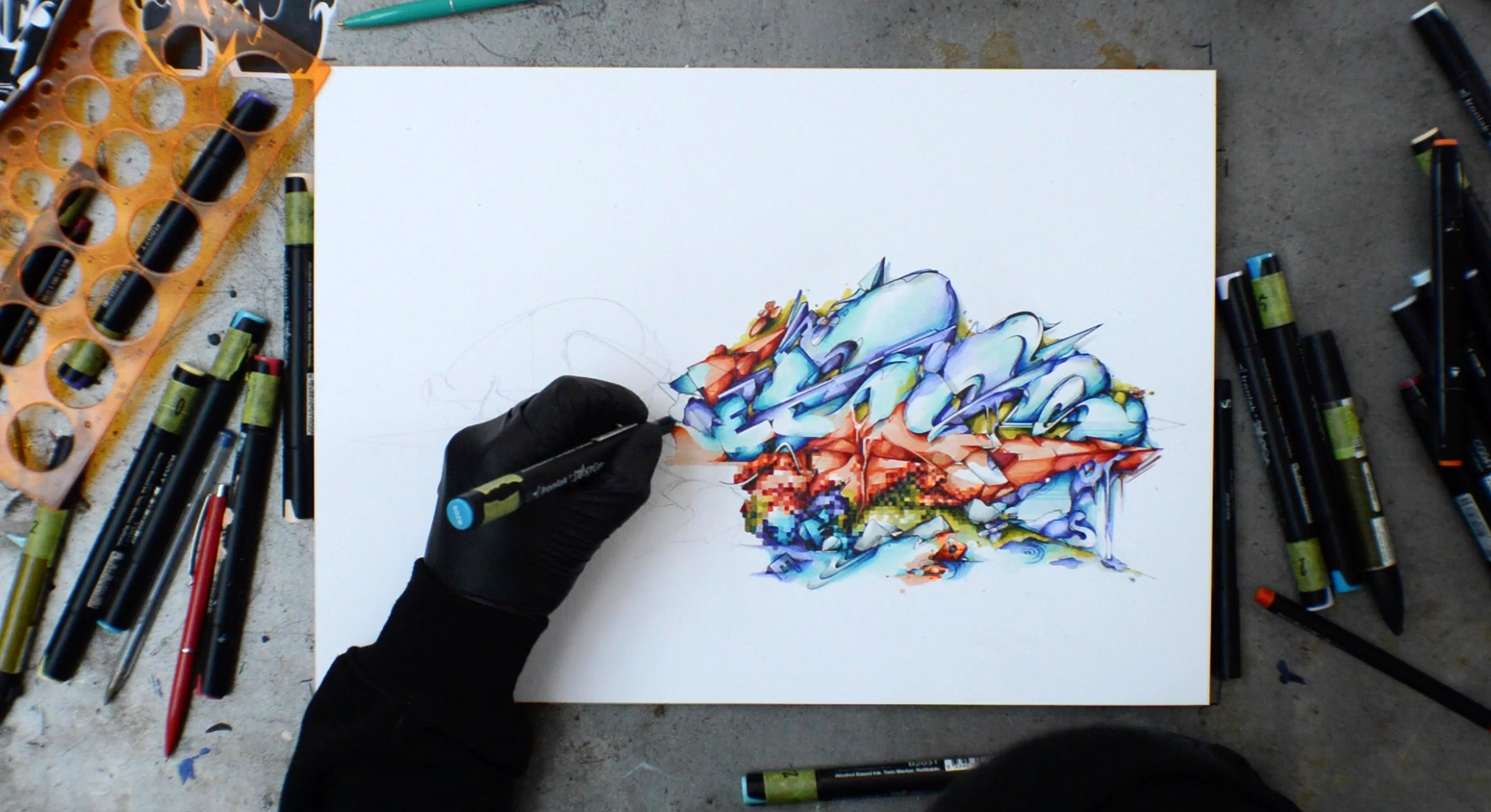 A work by Does - Drawing Adore 1