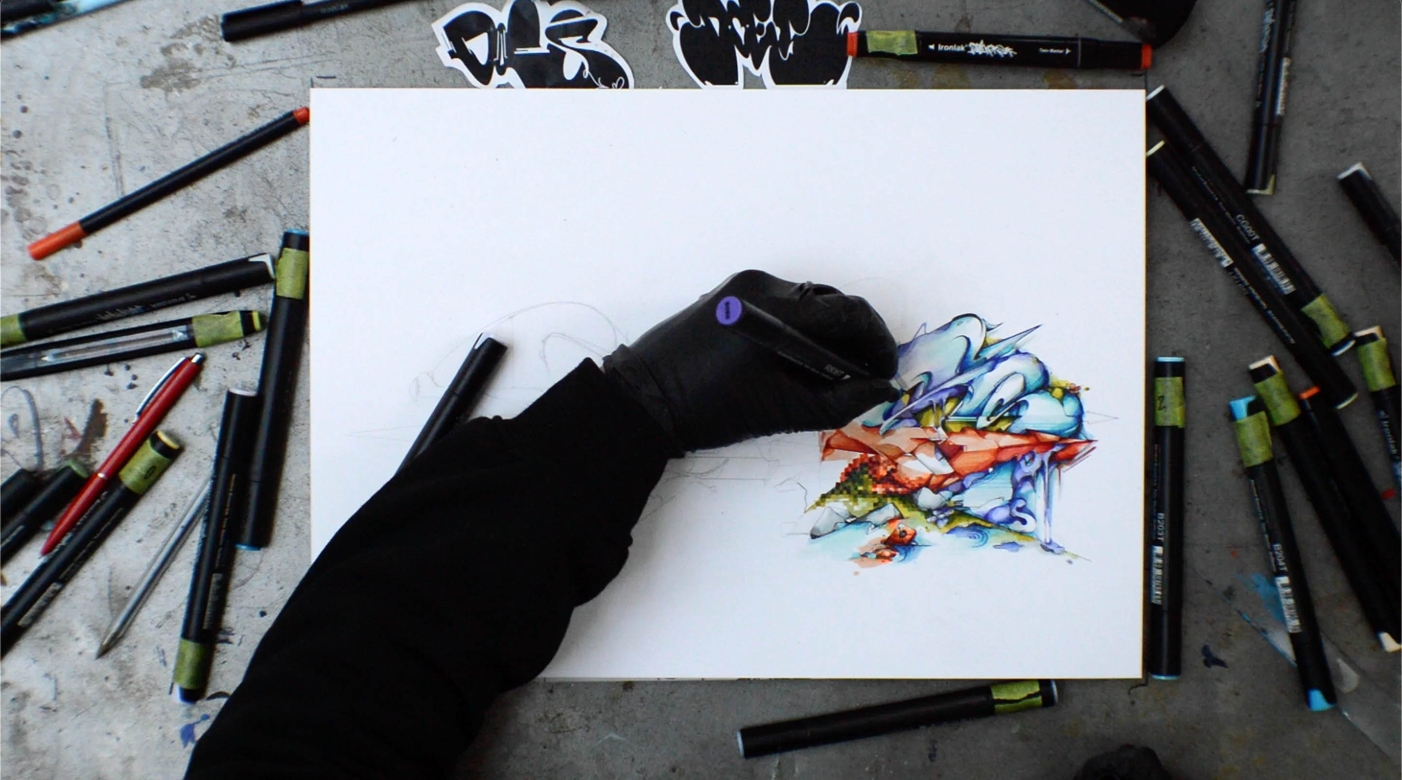 A work by Does - timelapse