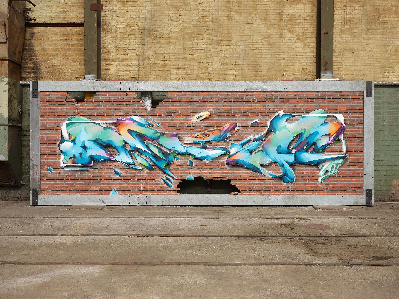 A work by Does - Digital-Does-wallfix 1